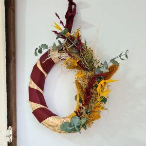 decoración de Navidad corona setaria