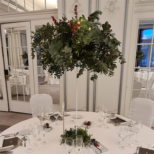 centro de mesa boda en hotel