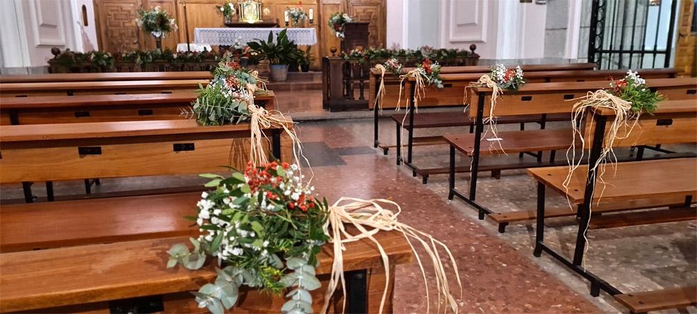 decoración de boda en el pardo