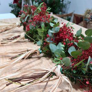 ramo de flores preservadas como decoración de bodas