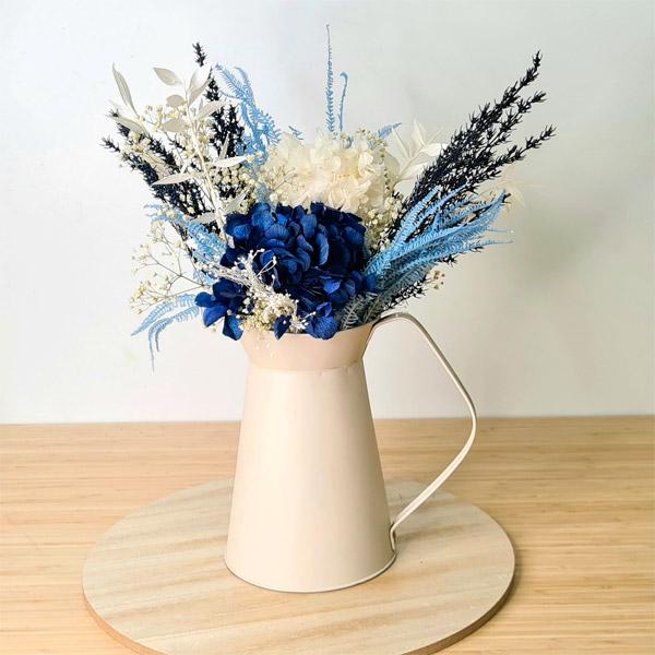 jarra aruba de flores preservadas
