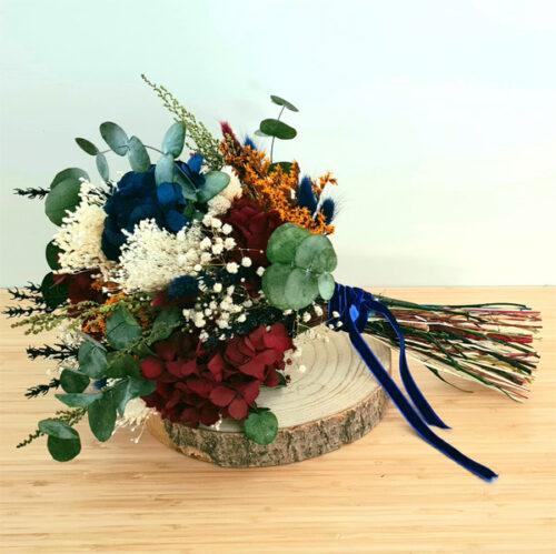 ramo de flores preservadas para bodas