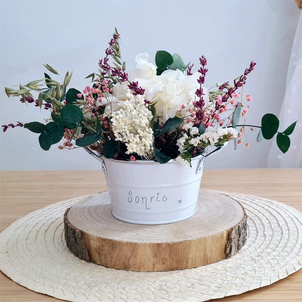 centro de flores preservadas damaris