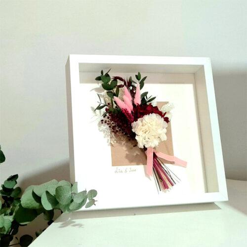 cuadro con flores regalo original
