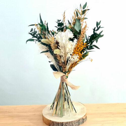 ramo silvestre de flores preservadas