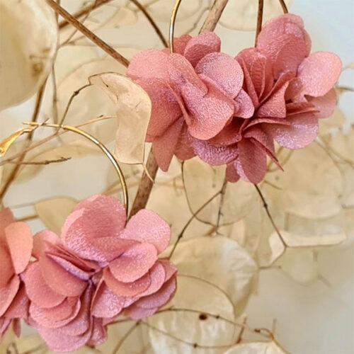 pendientes de flores para boda