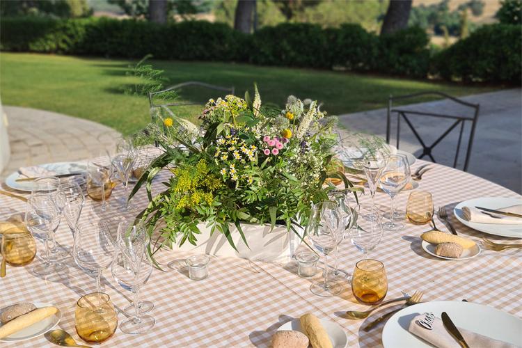 centro de mesa en boda